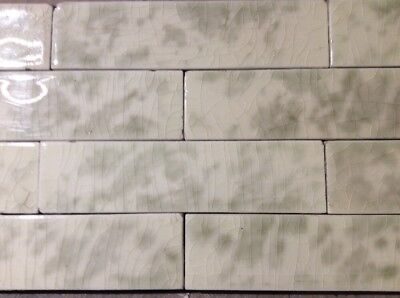 COMPLETE SET VINTAGE VICTORIAN ANTIQUE FIREPLACE TILE MANTLE SURROUND Sage Grey