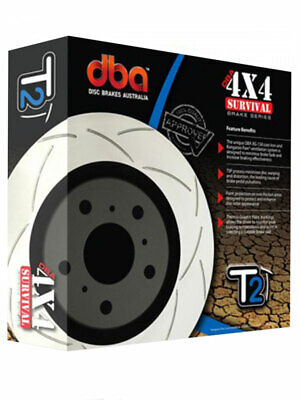 2 x DBA T2 Slotted Rotor FOR NISSAN PATHFINDER R51 (DBA2312S)