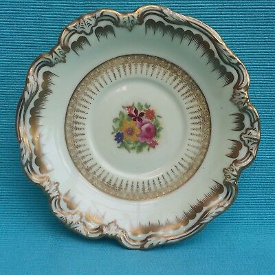 Stunning highly gilt vintage George Jones Crescent saucer