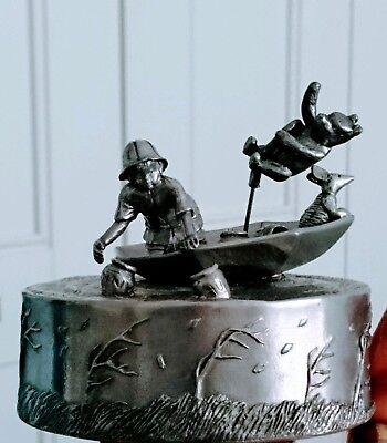 Royal Selangor Pewter Carousel Music Box Disney Winnie The Pooh Blustery Day !