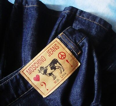 """SKIRT gonna 90's woman MOSCHINO jeans """"With Love"""" made Italy TG.44-M/L RARE"""