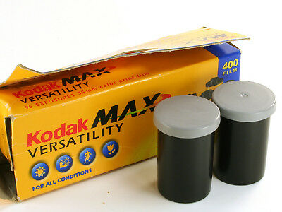 2 Rolls Kodak MAX Versatility Color Print 400 Film 24 Exp 35mm Expired 03/2004