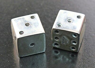 Pair of Dice in Sterling Silver