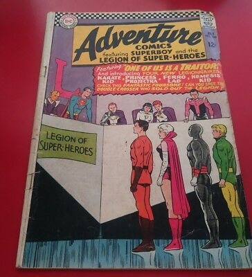 ADVENTURE COMICS #346 1st KARATE KID  1966 Early Legion of Super-Heroes Superman