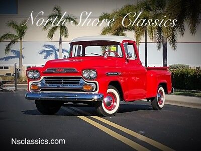 1959 Chevrolet Other Pickups Restored Show Quality Apache-Like 1955 56 57 58 60 1959 Chevrolet Apache -FRAME OFF RESTORATION-FLORIDA PICK UP-SHOWROOM CONDITION