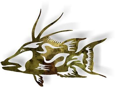 DXF CNC dxf for Plasma Hogfish CS#700 Cave Wall Art Home Decor Christian