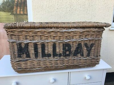 Antique Millbay Rattan Chest Large