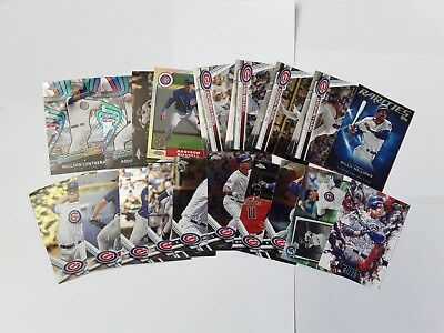 MLB Baseball Trading Cards Lot Of 19 Chicago Cubs Cards - Kris Bryant, Rizzo