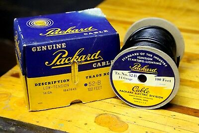 Vintage PACKARD Electric Ignition Starting Lighting Cable GM CAR AUTO w/ Box