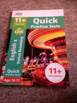 Letts 11+ English and Verbal Reasoning Quick Practice Brand New RRP £6.99