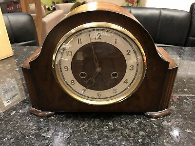 Stunning Smiths - Enfield Chiming Mantel Clock Complete With Keys.