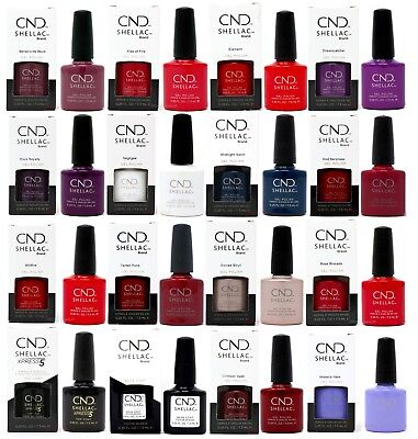 CND Shellac UV Gel Nail Polish 153 Colours Base Duraforce Xpress5 Top Coat 7.3ml