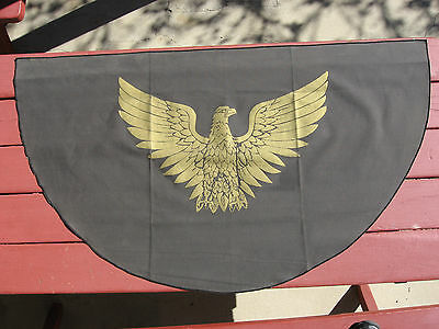Gold Eagle On Black Gaberdine Half Circle Flag/banner/wall Hanging