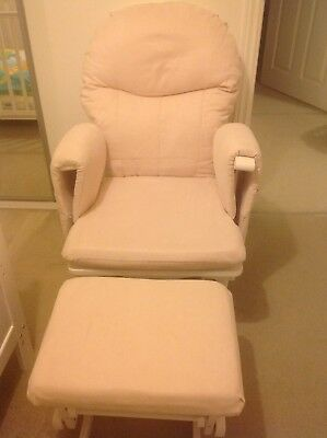 Habebe Glider Rocking Nursing Maternity Recliner Chair with footstool, brakes
