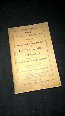 1947 NBFU National Electrical Code Book (Electric Wiring and Apparatus)