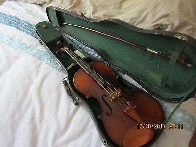 Vintage 4/4 Leslie Sheppard Violin  - Imported From Canton + Bow & Case