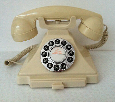 Reproduction GPO Carrington 1929 Corded Phone. Ivory. Barely used + User Guide.