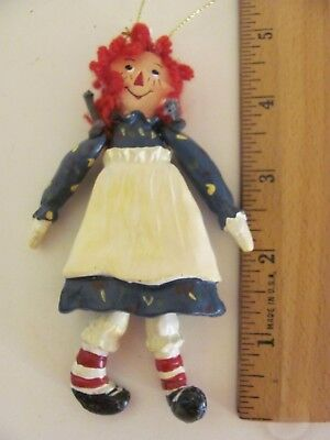 """Vintage Raggedy Ann Jointed Ornament 4.50"""" Tall Marked 1998 S & S"""