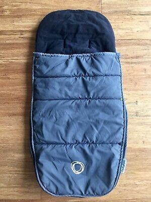 Bugaboo Cameleon Gecko Frog Footmuff Gray And Black in Excellent Condition