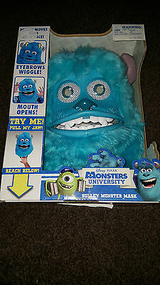 Sulley Monster Mask Moving Mouth Eyebrows Disney Monsters inc University BOXED