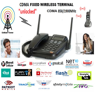 Home Phone w/ cordless handset CDMA Waxess DM1000 Verizon