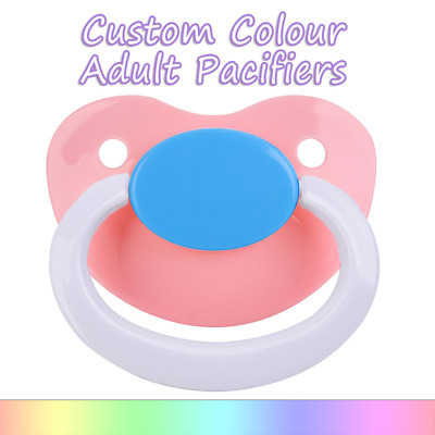 Adult Pacifier Mix Colours  -  Soother Dummy Age Play Little Space ddlg abdl ab
