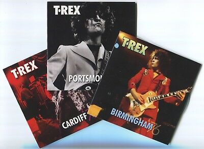 Marc Bolan / T.rex : Set 1 Of 3 Promo Discs From 'bolan Live Box' By Easy Action