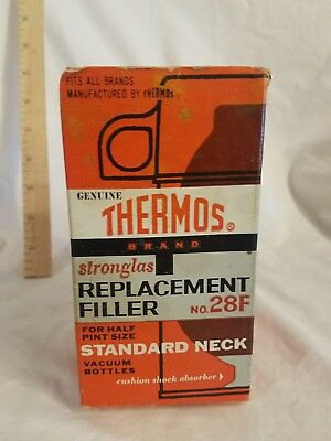 Thermos Stronglas Vacuum Bottle Replacement Filler No. 28F Standard Mouth Liner