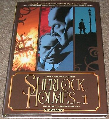 THE TRIAL OF SHERLOCK HOLMES Hardcover graphic novel (Aaron Campbell) (NM)