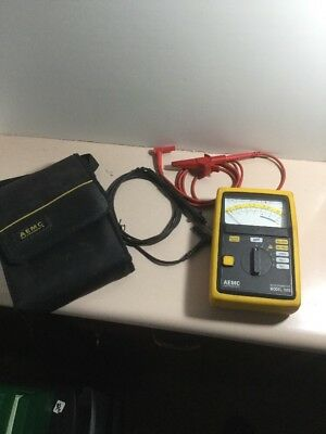 AEMC 1015 Analog Megohmmeter 1000 Ohms Resistance 500V 1000V Test Voltage 200mA