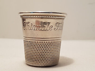 Vintage Antique Charles Thomae STERLING Only A Thimble Full Shot Glass Jigger
