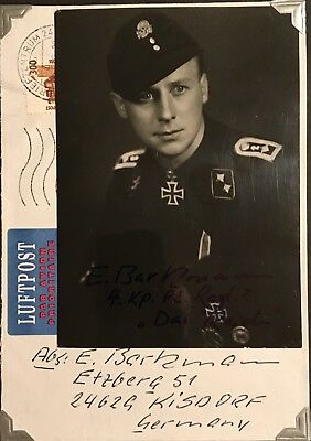 Extremely Rare Signed Photo, Ernst Barkmann,german,wwii,knights Cross