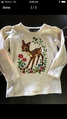 Rock Your Kid Story book Long Sleeve Top Size 3