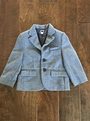 JANIE And JACK Gray Grey Wool Blend Blazer Jacket  Size 2T