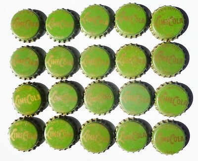 Unused Lime Cola Cork Bottle Caps  Rare!