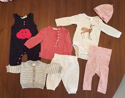 Country Road, H&M, Baby Girl Bulk Bundle 0000 (newborn To 3 Months). 7 Items