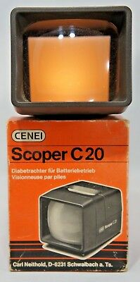 Vintage Cenei Scoper C20 Slide Viewer in Original Box (Fully working)