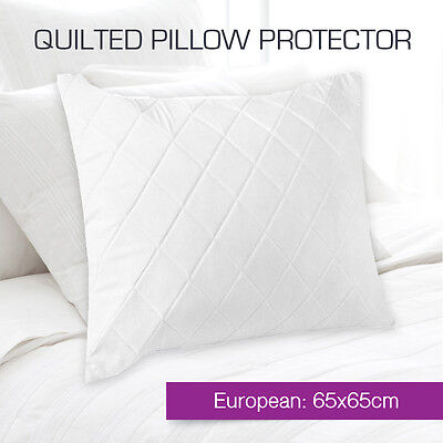 Aus Made Quilted European Euro Pillow Protectors Case Cotton Cover-65cm x 65cm