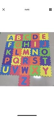 36pc XL Tiles For Kids Play Floor Mat - Alphabet And Numbers! Used Once Only!