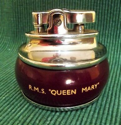 Rms Queen Mary Table Lighter White Star Cunard