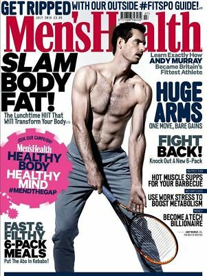 Men's Health Magazine July 2016 ~ Andy Murray Cover ~ New ~