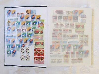 Vintage German Hardcover Stamp Album 16 double sided Pages - 2 Australian Stamps