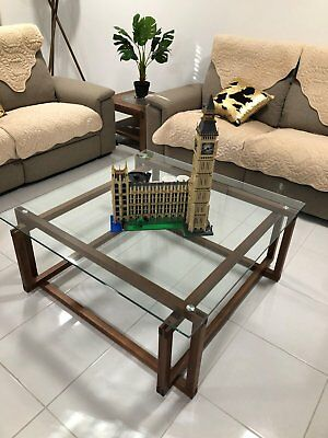 Like New tampered glass and wood tea coffee table clean and tidy
