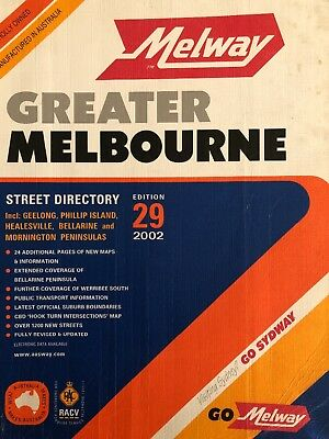 Melway - Greater Melbourne Street Directory - Edition 29 - 2002