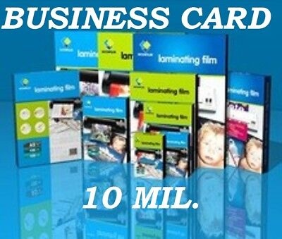 Ultra Clear Business Card 50 10 Mil Laminating Laminator Pouch 2-1/4 x 3-3/4 CQ