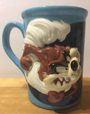 Tazmanian Devil Blue 3D Tall Coffee Mug Looney Tunes TAZ Warner Bros.