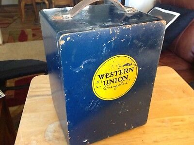 Western Union Everywhere Wooden Box, Probably Held Some Electronic Equipment