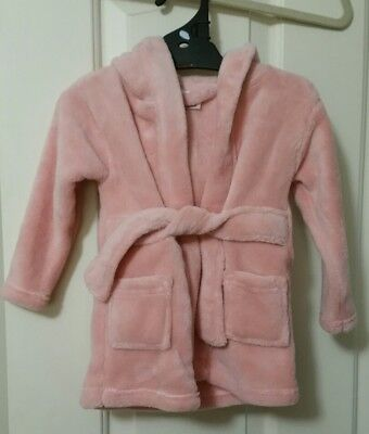Baby Girl's Hooded Dressing Gown  Size 00 - Bnwt