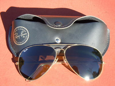 1980's 64mm Bausch & Lomb RAY BAN W0500 G15 Large Metals III Aviator Sunglasses