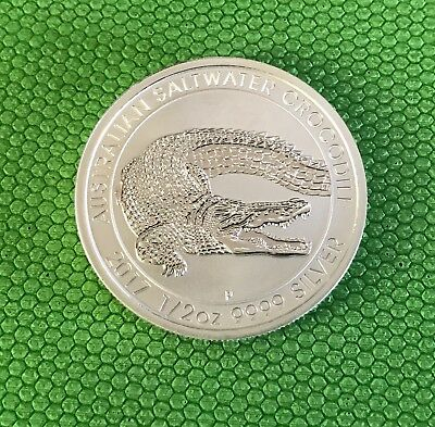 2017 1/2 oz .9999 silver Australian salt water crocodile - Perth mint